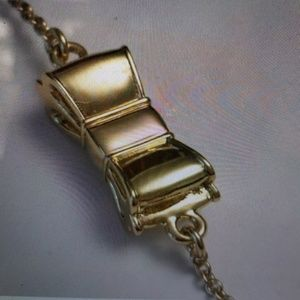 Kate Spade Nwt Gold tone Bow Necklace